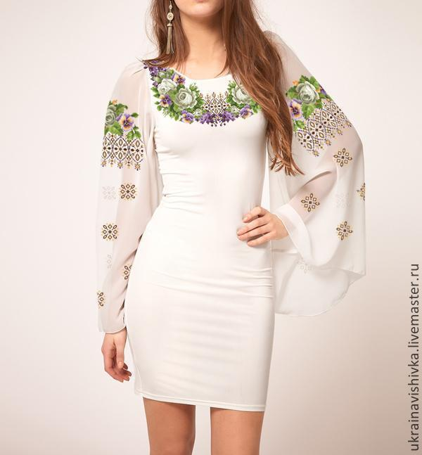 Цветок из ткани на платье своими руками фото