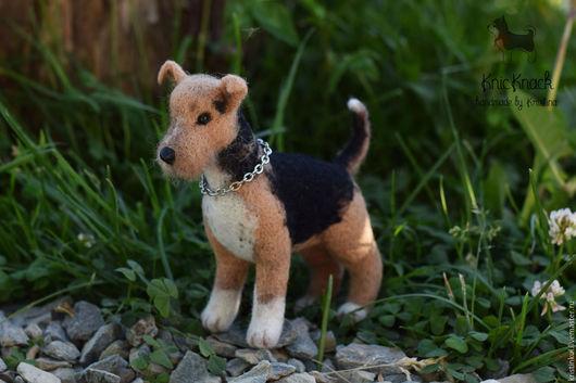 Игрушки животные, ручной работы. Ярмарка Мастеров - ручная работа. Купить Собака для интерьерной куклы - игрушка валяная из шерсти. Handmade.