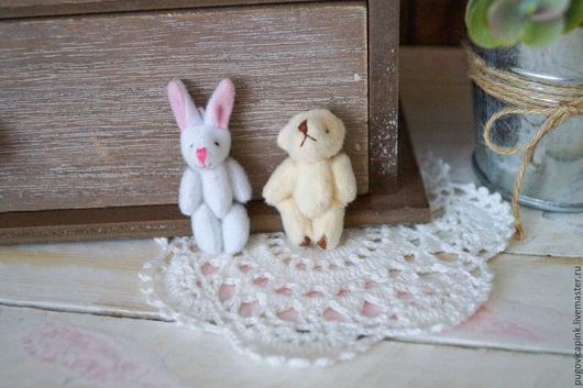Куклы и игрушки ручной работы. Ярмарка Мастеров - ручная работа. Купить Мишки и зайчики для кукол и игрушек (4,5см и 6см). Handmade.