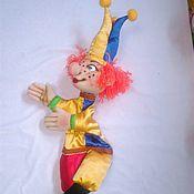 Скоморох. Перчаточная кукла с ножками.