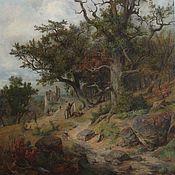 Пейзаж с охотниками