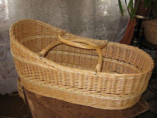 Детская ручной работы. Ярмарка Мастеров - ручная работа. Купить Люлька переноска плетеная из натуральной лозы ( колыбель, зыбка). Handmade.
