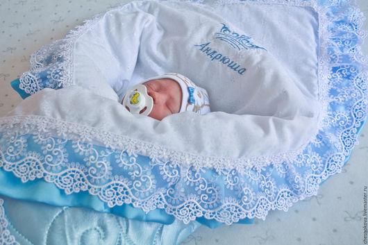 Для новорожденного. На выписку из роддома. Комплекты на выписку. Ярмарка мастеров, ручная работа купить. Одеяло для новорожденных. Одеяло на выписку.