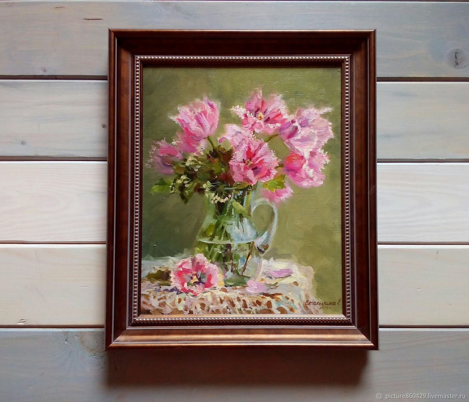 Paintings:Oil painting of Tulips, Pictures, Vyshny Volochyok,  Фото №1