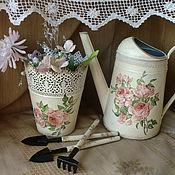 """Для дома и интерьера ручной работы. Ярмарка Мастеров - ручная работа """"Шебби"""" комплект для комнатных растений. Handmade."""