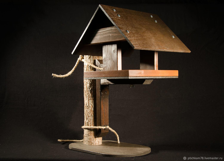 Экстерьер и дача ручной работы. Ярмарка Мастеров - ручная работа. Купить Кормушка для птиц 'Колодец-1' на кронштейне. Handmade. Комбинированный