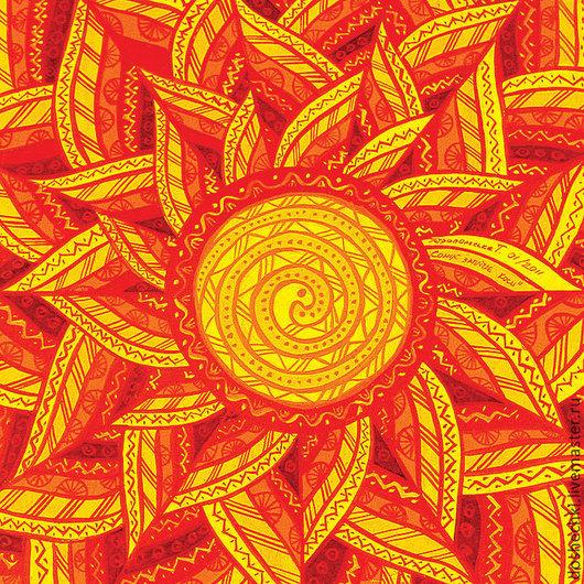 Открытки на все случаи жизни ручной работы. Ярмарка Мастеров - ручная работа. Купить Открытка Солнце заплетает косы. Handmade. Оранжевый