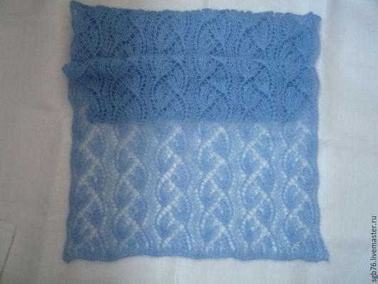 """Шали, палантины ручной работы. Ярмарка Мастеров - ручная работа. Купить Палантин  """"Небо голубое"""". Handmade. Голубой, шарф"""
