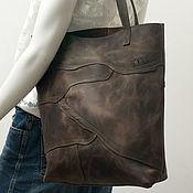 Сумки и аксессуары handmade. Livemaster - original item shopper: Patchwork bag genuine leather bag crazy horse.. Handmade.