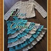 Одежда ручной работы. Ярмарка Мастеров - ручная работа Платье + болеро на 3-4 года. Handmade.