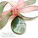 Кулон подвеска агата розовый нежный кулон шелковая лента подарок дочери кулон подвеска подарок маме свекров бусы серьги кулон подвеска агата подвеска кулон агата подарок любимой учител розовый