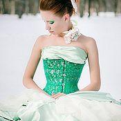 """Одежда ручной работы. Ярмарка Мастеров - ручная работа Корсет """"Emerald"""". Handmade."""