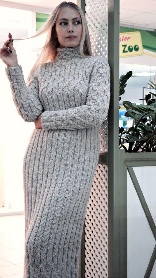 """Платья ручной работы. Ярмарка Мастеров - ручная работа. Купить Платье вязаное """"Нордический ветер"""". Handmade. Платье зимнее"""