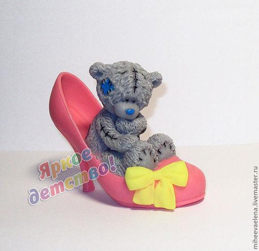 """Мыло ручной работы. Ярмарка Мастеров - ручная работа. Купить Мыло """"Мишка в туфельке"""". Handmade. Розовый, тедди"""