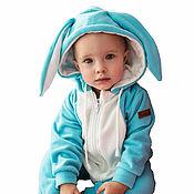 Работы для детей, handmade. Livemaster - original item Romper baby Bunny Snow SNOW BUNNY FUNKY HOME KIDS SUIT. Handmade.