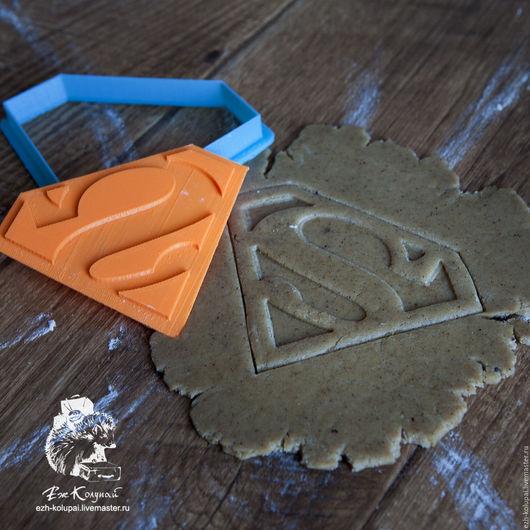 Кухня ручной работы. Ярмарка Мастеров - ручная работа. Купить Супермен -№069 штамп вырубка для печенья и пряников. Handmade.