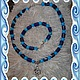 чокер и браслет - комплект из бирюзы и лазурита - комплект украшений.