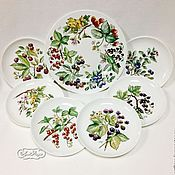 Посуда handmade. Livemaster - original item The painted porcelain.Plates dessert