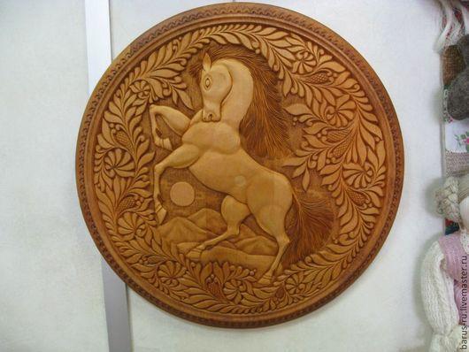 Животные ручной работы. Ярмарка Мастеров - ручная работа. Купить Панно из кедра Конь. Handmade. Настенное панно, деревянная картина