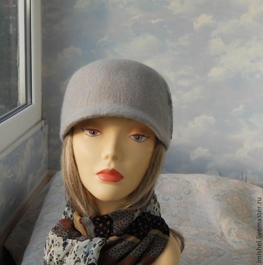 """Шляпы ручной работы. Ярмарка Мастеров - ручная работа. Купить кепи """"Gray"""". Handmade. Валяные шляпы, валяные кепки"""