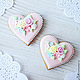 Order Gingerbread hearts with the initials. prynik. Livemaster. . Gingerbread Cookies Set Фото №3