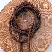 Материалы для творчества handmade. Livemaster - original item Leather cord for pendants. Handmade.