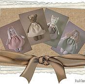 Куклы и игрушки ручной работы. Ярмарка Мастеров - ручная работа Набор игрушек в винтажном стиле. Handmade.