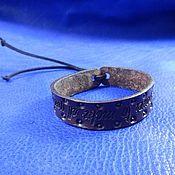 Украшения handmade. Livemaster - original item A leather bracelet with engraving Do it. Handmade.