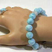 Украшения handmade. Livemaster - original item Bracelet Larimar Dominican. Handmade.