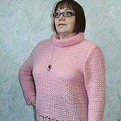 Одежда ручной работы. Ярмарка Мастеров - ручная работа Розовый вязаный свитер. Handmade.