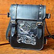 Сумки и аксессуары handmade. Livemaster - original item Men`s bag made of genuine leather vegetable tanned. Handmade.