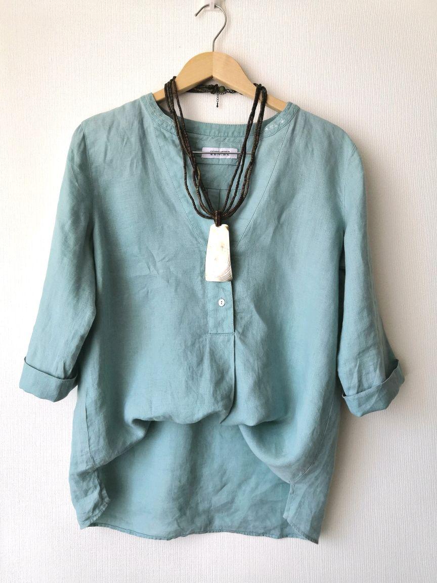 Винтаж: Лен  100 %  рубашка блуза топ  . Винтаж, Одежда винтажная, Северодвинск,  Фото №1