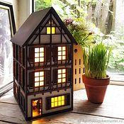 Для дома и интерьера handmade. Livemaster - original item German house with an opening door and the room inside. Night light. Handmade.
