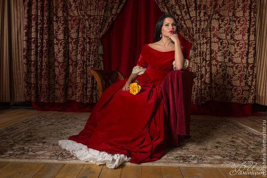 Платья ручной работы. Ярмарка Мастеров - ручная работа. Купить Платье бальное Кармениста. Handmade. Бордовый, бальное платье