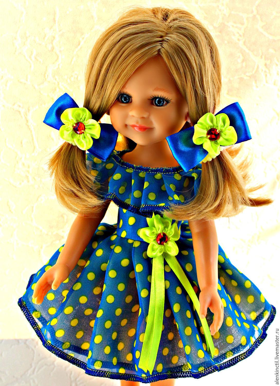 Купить Весёлые горошки для Паолок - мятный, одежда для кукол, для куклы, паола рейна, paola reina