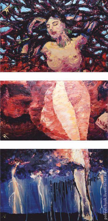 Абстракция ручной работы. Ярмарка Мастеров - ручная работа. Купить Viva la vita. Handmade. Комбинированный, бордовый, модния