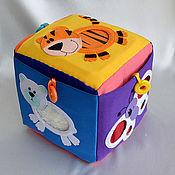 """Куклы и игрушки ручной работы. Ярмарка Мастеров - ручная работа Развивающий кубик """"шкурки"""". Handmade."""