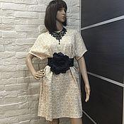Одежда ручной работы. Ярмарка Мастеров - ручная работа Платье из жаккарда. Handmade.