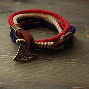 Украшения handmade. Livemaster - original item Bracelet with axe ,men`s bracelet with axe ,a Scandinavian bracelet ,. Handmade.