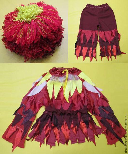 Детские карнавальные костюмы ручной работы. Ярмарка Мастеров - ручная работа. Купить Костюм Огонь. Handmade. Ярко-красный, хлопок