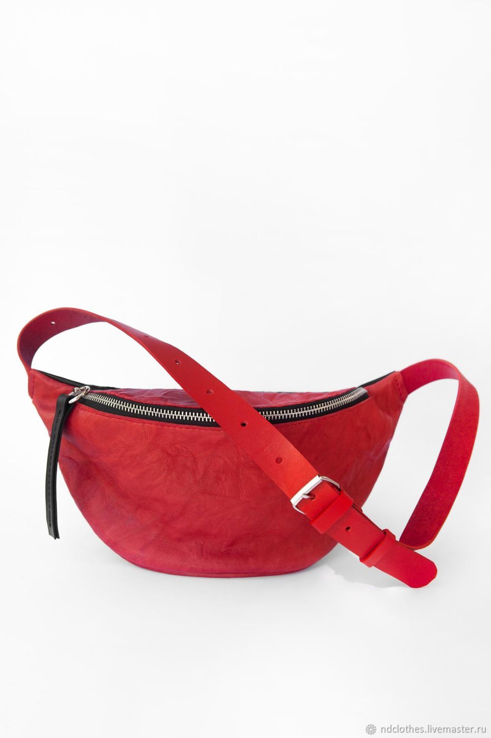 Ray's waist bag (red with red straps), Waist Bag, Moscow,  Фото №1