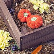 Куклы и игрушки ручной работы. Ярмарка Мастеров - ручная работа Тыква вязаная тыковка еда вязаные овощи. Handmade.