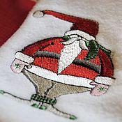 """Подарки к праздникам ручной работы. Ярмарка Мастеров - ручная работа Новогодний сапожок """"Веселый Санта"""". Handmade."""