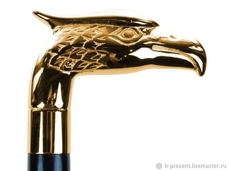 Walking stick 'Golden Eagle', 92 cm, Canes, St. Petersburg,  Фото №1