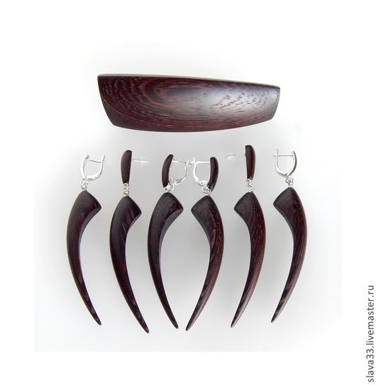 Комплекты украшений ручной работы. Ярмарка Мастеров - ручная работа. Купить Украшения из дерева. Handmade. Бижутерия из дерева, подарок женщине