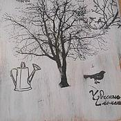 """Для дома и интерьера ручной работы. Ярмарка Мастеров - ручная работа Доска разделочная """"Чудесные моменты"""". Handmade."""