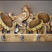 Для дома и интерьера ручной работы. Ярмарка Мастеров - ручная работа Вешалка. Handmade.