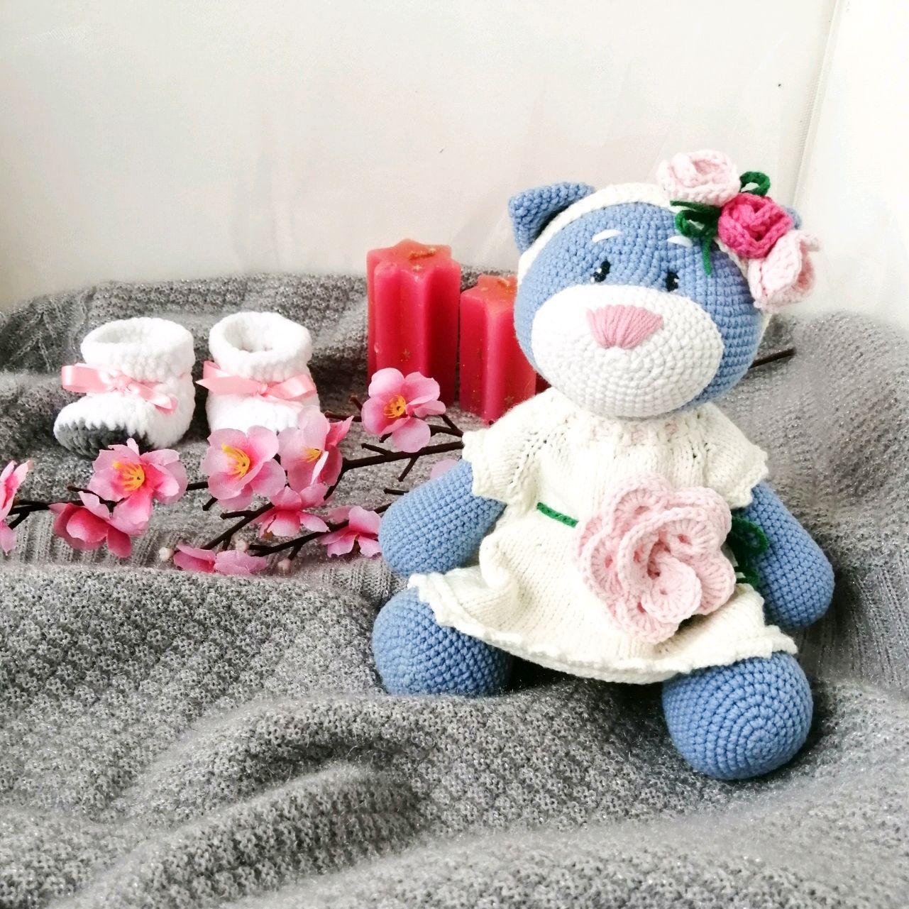 """Мягкая игрушка """"Кошка Мила"""", Мягкие игрушки, Биробиджан,  Фото №1"""