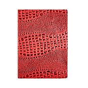 Канцелярские товары handmade. Livemaster - original item Document folder A4 Red Caiman. Handmade.