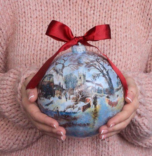 """Подвески ручной работы. Ярмарка Мастеров - ручная работа. Купить Новогодний шар """"Зимняя сказка"""". Handmade. Новогодний подарок, семья"""